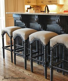 Chalk Paint Furniture - Jennifer Decorates - kitchen island makeover using chalk paint from JenniferDecorates… You are in the right place about -
