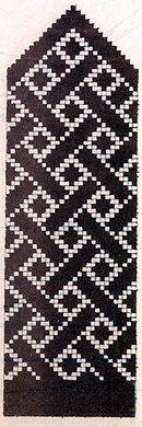 ВАРЕЖКИ чёрно-белые схемы
