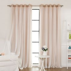 Best Home Fashion, Inc. Lace Tulle Overlay Blackout Curtain Panel & Reviews | Wayfair