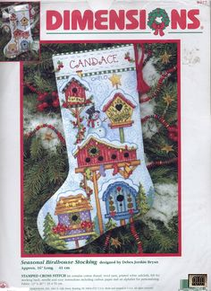 ru / Фото - 87 - IannaD X-stitch Xmas Birdhouses free Cross Stitch Christmas Stockings, Cross Stitch Stocking, Christmas Stocking Pattern, Xmas Cross Stitch, Christmas Stocking Holders, Stocking Tree, Xmas Stockings, Christmas Cross, Cross Stitching