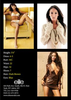 Model Comp Card example 28 More