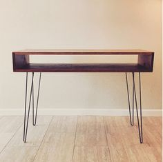 HAIRPIN DESK in American Cherry by CHASEWARRENDESIGN on Etsy