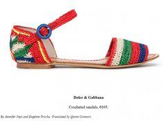 en.vogue.frfashion - sandália rasteira de crochê Dolce & Gabana