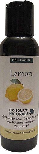 Lemon Preshave Oil 2 fl oz (60 ml)