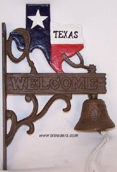 This is a wonderful way for your guests to be welcomed at your front door...Texas style, of course!