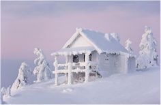 Beautiful Lapland in Finland. Winter Szenen, Winter Magic, I Love Winter, Winter White, Winter Christmas, Snow Cabin, Lapland Finland, I Love Snow, Lappland