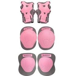Nijdam beschermset N-protect maat S - roze Roller Disco, Skate Shop, Kit, Sport, Blush, Skates, Skateboarding, Products, Sexy Pajamas