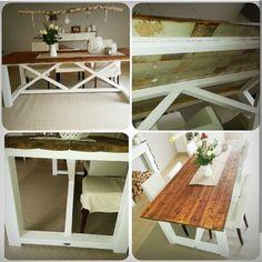 DIY Esstisch Diy Esstisch, Home Staging, Entryway Tables, Kitchen, Furniture, Home Decor, Wood Ideas, Rustic, Interior