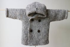 Hand Knitted Pea Coat RocoKnitwear