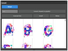 """[VIDEO] Create your own fonts in Photoshop or Illustrator—Revolutionary Kickstarter project """"Fontself"""" promises to make it easier than ever to create your own fonts; Details>"""
