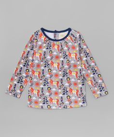 Look at this #zulilyfind! Origany Gray Horse Organic Top - Infant & Kids by Origany #zulilyfinds