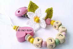 Schnullerketten - Schnullerkette Gänseblümchen 2 - ein Designerstück von ENO-BUBI bei DaWanda