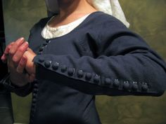 Recreation of medieval Moy gown, made from pattern based on remains found in an Irish bog.