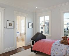 """""""How to size Interior Trim for a Finished Look"""" contemporary kids by Winder Gibson Architects Interior Trim, Interior And Exterior, Interior Design, My Home Design, House Design, French Casement Windows, French Doors, Blue Wall Colors, Architrave"""