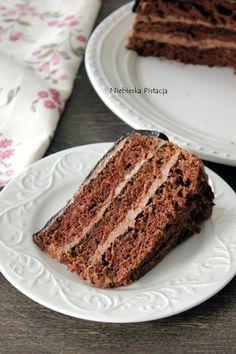 tort_czekoladowyy Dessert Table, Vanilla Cake, Frosting, Sweet Treats, Sweets, Chocolate, Cooking Ideas, Nursing, Deco