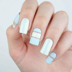 Stylish Stripe Nail Idea for Summer
