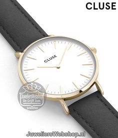 Cluse Horloge La Boheme CL18406 Gold White - Black