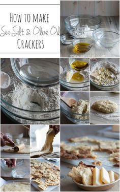 How-to-make-sea-salt-and-olive-oil-crackers, how to make crackers, homemade crackers, olive oil and sea salt crackers, sea salt and olive oil crackers http://www.sweetphi.com/sea-salt-olive-oil-crackers/