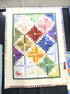 Pineapple Blossom, one of Bonnie Hunter's designs at www.quiltville.com.