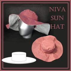 Niva sun hat sewing pattern Hat Patterns To Sew, Vest Pattern, Easy Sewing Patterns, Print Format, Large Format Printing, Above The Knee Shorts, Sun Hats For Women, Hooded Scarf, Rockabilly Fashion