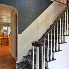 Love the runner - Classic Coastal Colonial Renovation - the Anti McMansion