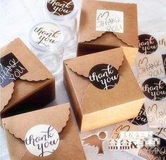 Mini 350g Kraft papel galletas paquete caja de torta muffin