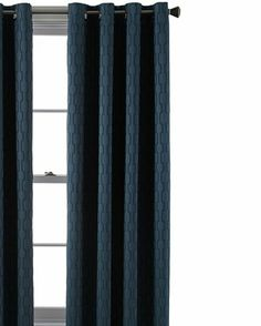 I really wanted these curtains :( But it's out of stock and I'm afraid discontinued. Master bedroom , would like the dark teal contrast to the walls.  Studio™ Luna Grommet-Top Blackout Curtain Panel - JCPenney