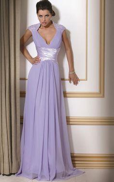 Tropical Sheath Sweep Train Straps Sleeveless Chiffon Evening Dresses - Formal Dresses - Wedding Dresses