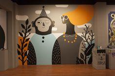 Ideas Wall Murals Street For 2019 Graffiti Art, Murals Street Art, Mural Wall Art, Mural Painting, Mural Cafe, Doodle Wall, Kids Room Murals, Wall Drawing, Wall Design