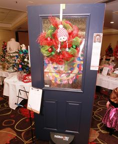 Happy Snowman Wreath by Kris Carlson Door Display donated by Weathertight Leukemia And Lymphoma Society, Door Displays, Snowman Wreath, How To Raise Money, Christmas Wreaths, Trees, Holiday Decor, Happy, Home Decor