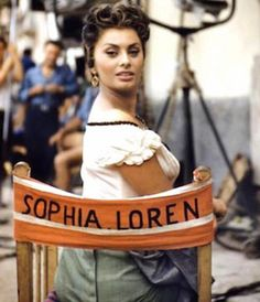#sophia #loren on set http://vickiarcher.com/shop/the-icons/