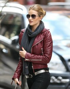 Bordeaux leather jacket! (REPIN) Pair it with one of our bordeaux clutches.
