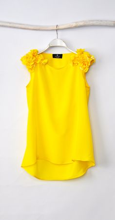 loose yellow blouse by hannaboutiquehb