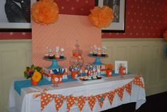 Orange and Turquoise Baby Shower Party Ideas | Photo 4 of 20 | Catch My Party