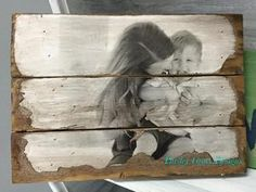 Wood Photo Pallet- Your image transferred and antiqued on wood, creative photo display, rustic photos, pallet photo - Paisley Grace Designs