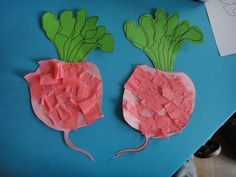 Nathalie Assistante Maternelle: radis Decoration Creche, Diy For Kids, Crafts For Kids, Deco Fruit, Vegetable Crafts, Art Activities For Toddlers, Toddler Rooms, Garden Theme, Fruits And Vegetables