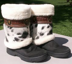 Uffs for your Uggs by Denice Langley Custom Leather       Snow boots .. .for her.