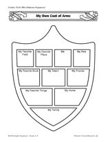 Design a coat of arms social studies lesson plan on for Make your own coat of arms template
