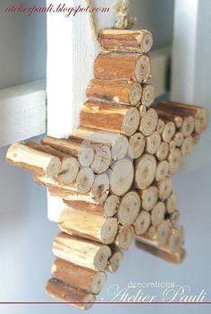 Znalezione obrazy dla zapytania jak zrobić gwiazdę z drewna