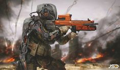 Future Soldier by Jude Smith   Sci-Fi   2D   CGSociety