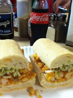 "Domilise's Shrimp Po'boy, Uptown New Orleans: Man vs. Food's ""Best Sandwich in the Gulf"""