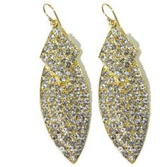 Hannah Earrings in Gold and White
