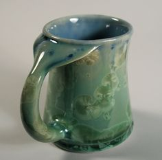 Whale Tail, 19oz - Mugs - Pottery | Edgecomb Potters I've never seen crystalline glaze on a functional piece before.