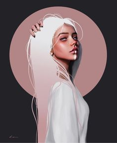 Millions of unique designs by independent artists. Find your thing.You can find illustration art girl and more on our website.Millions of unique des. Digital Art Girl, Digital Portrait, Portrait Art, Foto Doodle, Ipad Art, Anime Art Girl, Aesthetic Art, Digital Illustration, Face Illustration
