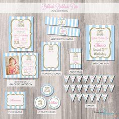 Cinderella Birthday Party Package, Cinderella Invitation, Printable party package, Princess invitation, cinderella printables, party pack