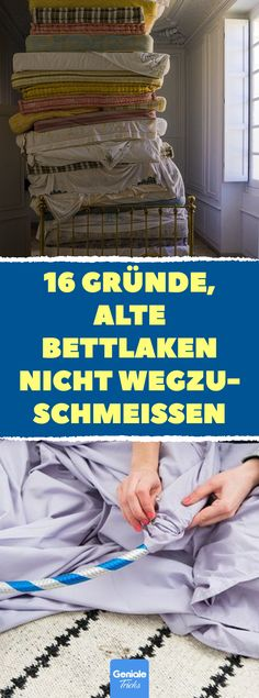 16 Gründe, alte Bettlaken nicht wegzuschmeißen 16 Upcycling-Ideen aus alten Be… 16 reasons not to throw away old bed sheets 16 Upcycling ideas from old bed sheets and duvet covers # bedding Upcycled Crafts, Diy Crafts To Sell, Sewing Crafts, Upcycled Furniture, Diy Furniture, Old Bed Sheets, Old Beds, Pretty Photos, Diy Bed