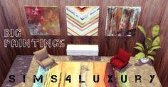 Sims4Luxury: Big Paintings • Sims 4 Downloads