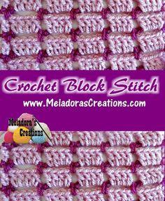 Crochet Block Stitch PINTEREST