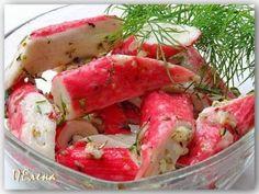 Оригинальная закуска — Маринованные крабовые палочки. Buffet, Fun Cooking, Quick Recipes, Fresh Rolls, Watermelon, Shrimp, Grilling, Salads, Appetizers