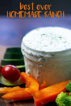 The BEST homemade ranch dressing! No packets of seasoning - just loads of fresh flavor and it's low carb and keto too! The BEST homemade ranch dressing! No packets of seasoning - just loads of fresh flavor and it's low carb and keto too! Best Ranch Dressing, Keto Ranch Dressing Recipe, Low Carb Ranch Dressing, Low Carb Salad Dressing, Homemade Ranch Dressing, Ranch Recipe, Salad Dressing Recipes, Salad Dressings, Ranch Dip Recipe Sour Cream